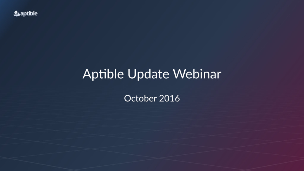 Ap#ble'Update'Webinar October(2016