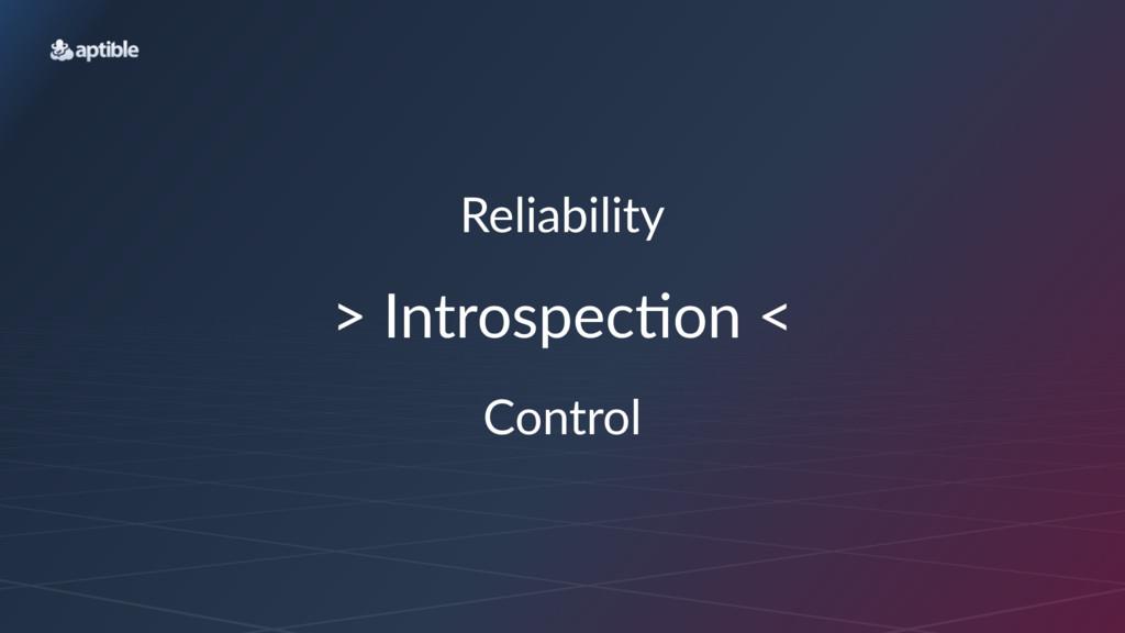 "Reliability >""Introspec,on""< Control"