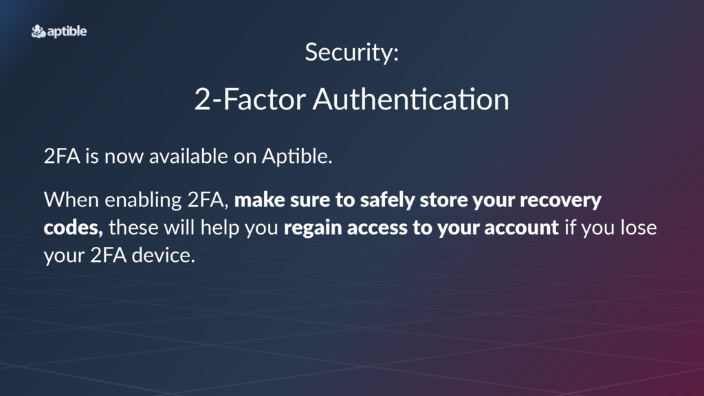 """Security: 2""""Factor)Authen/ca/on 2FA$is$now$avai..."""