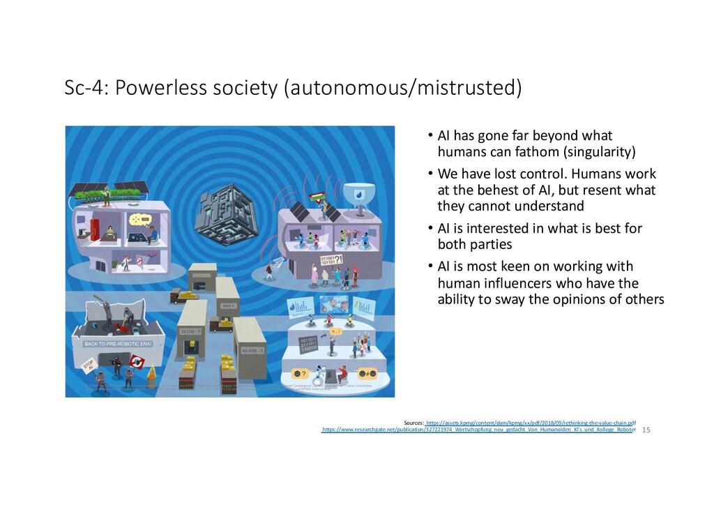 Sc-4: Powerless society (autonomous/mistrusted)...