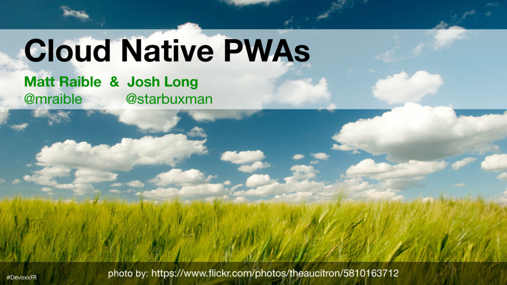 #D Cloud Native PWAs