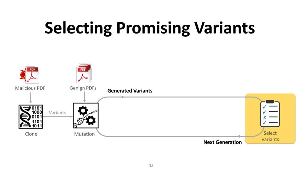 Next Generation Selecting Promising Variants 25...