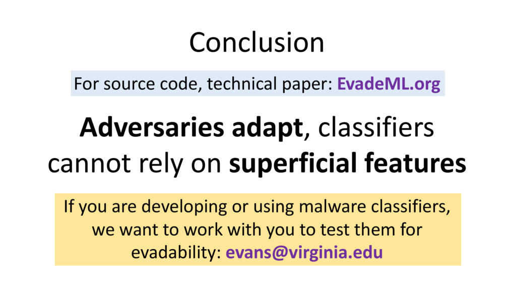 Conclusion For source code, technical paper: Ev...