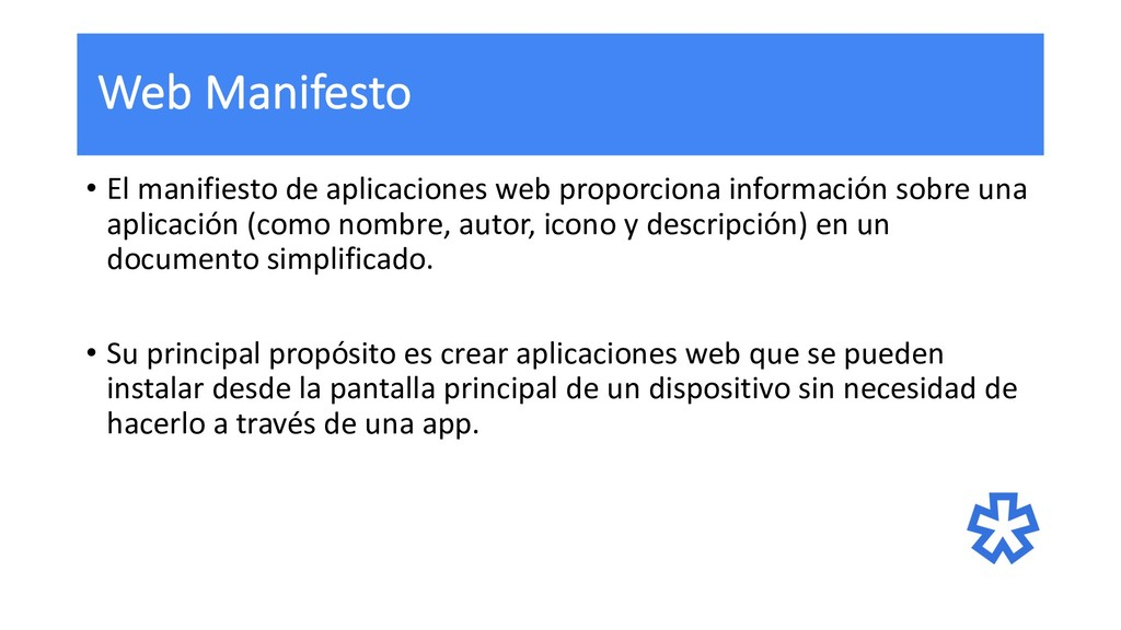 Web Manifesto • El manifiesto de aplicaciones w...