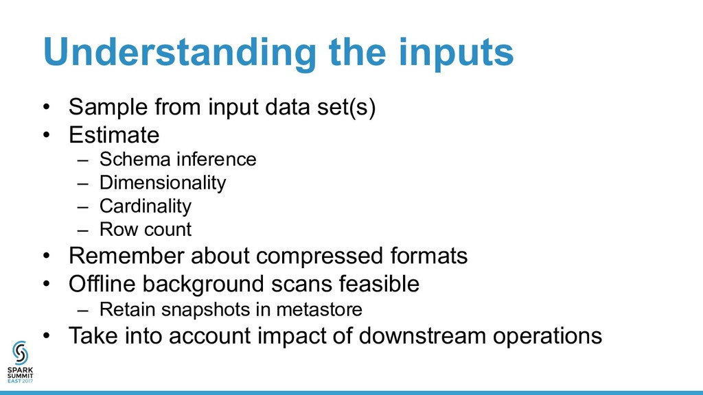 Understanding the inputs •  Sample from input d...