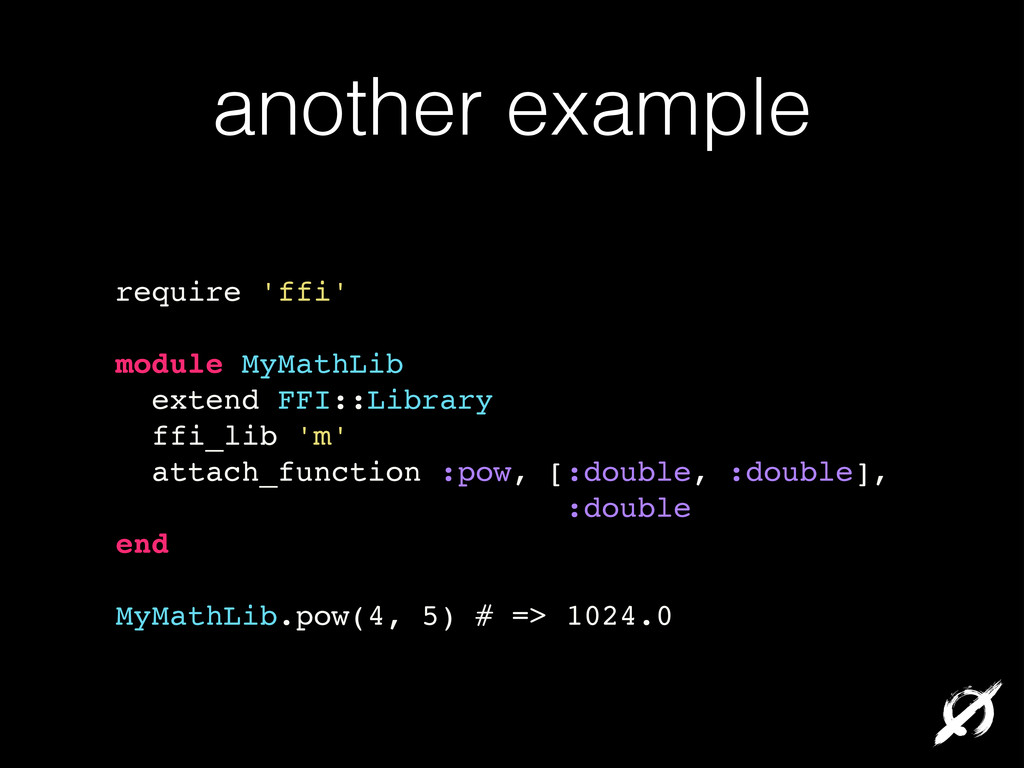 another example require 'ffi'! ! module MyMathL...