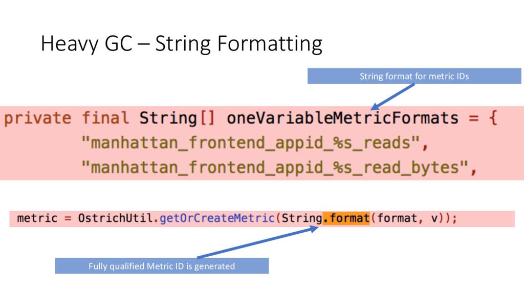 Heavy GC – String Formatting String format for ...