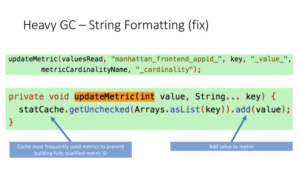 Heavy GC – String Formatting (fix) Cache most f...