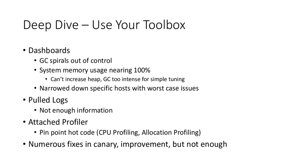 Deep Dive – Use Your Toolbox • Dashboards • GC ...