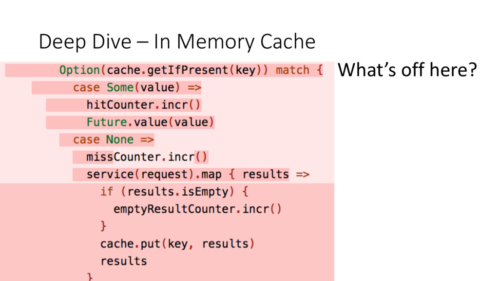 Deep Dive – In Memory Cache What's off here?