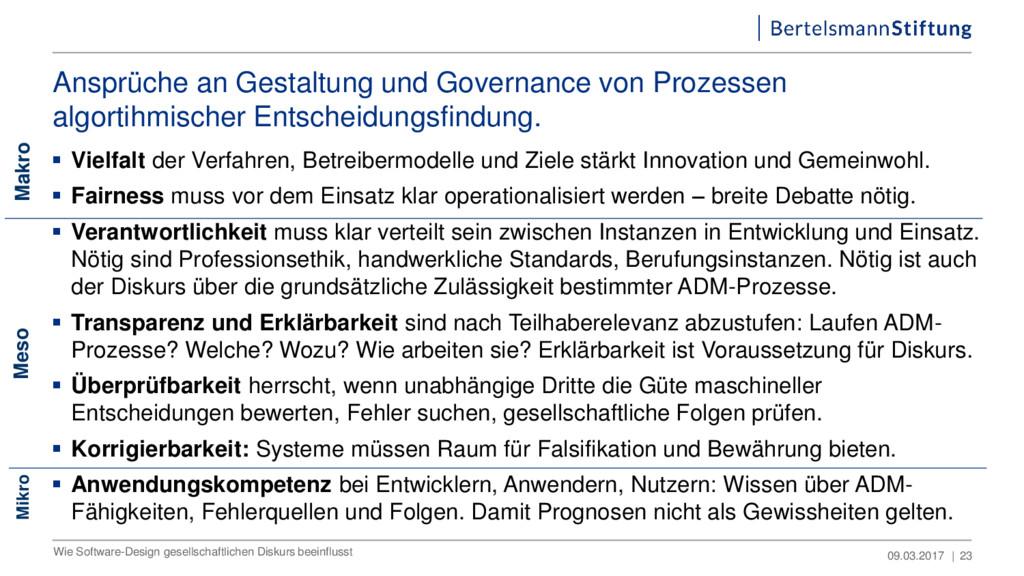 Ansprüche an Gestaltung und Governance von Proz...
