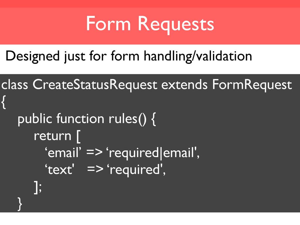 Form Requests Designed just for form handling/v...
