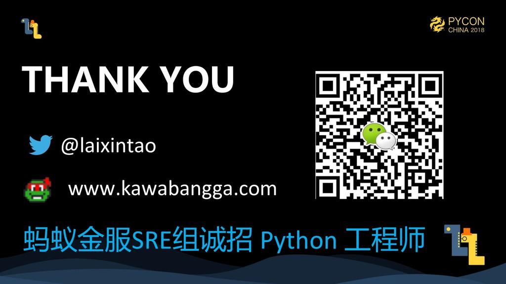@laixintao www.kawabangga.com SRE  Python ...