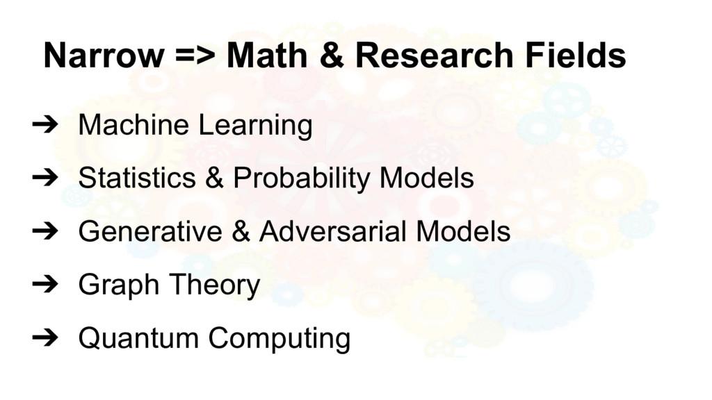 @nyghtowl Narrow => Math & Research Fields ➔ Ma...