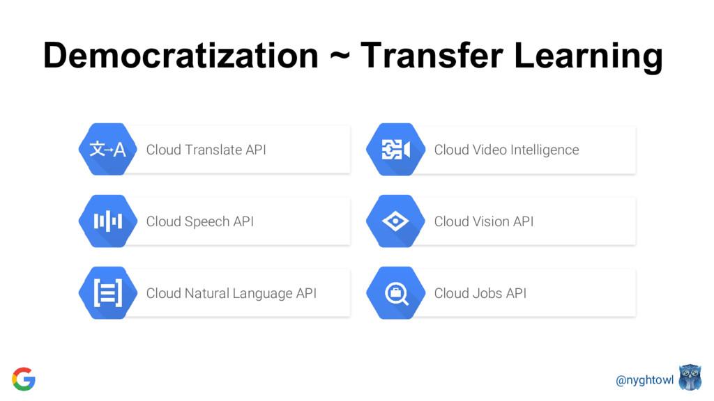 @nyghtowl Democratization ~ Transfer Learning C...