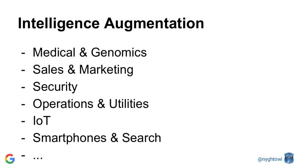 @nyghtowl Intelligence Augmentation - Medical &...