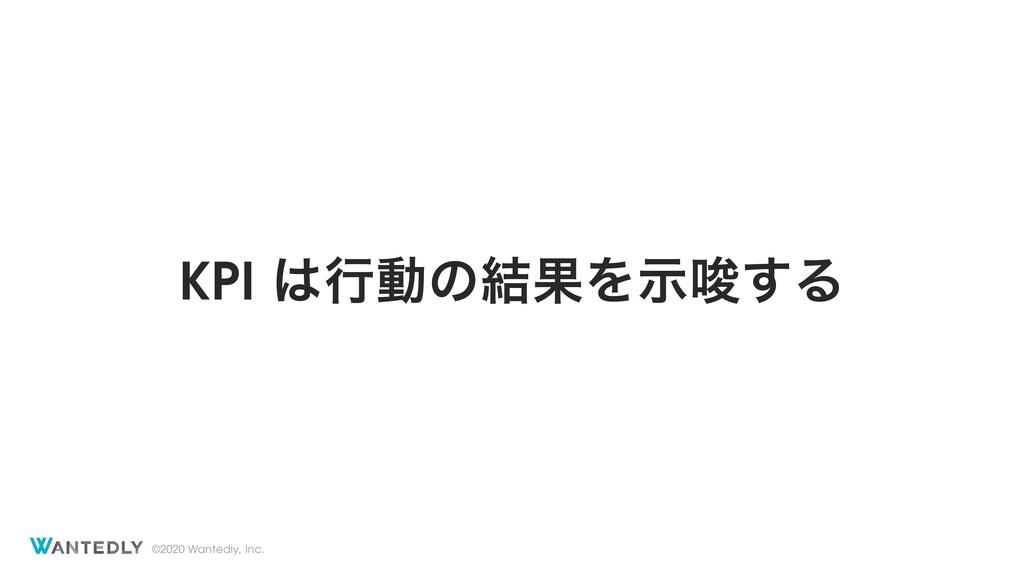 ©2020 Wantedly, Inc. KPI ߦಈͷ݁ՌΛࣔࠦ͢Δ