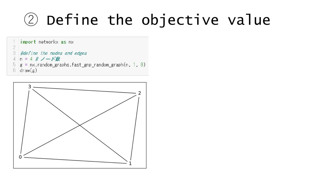 ② Define the objective value