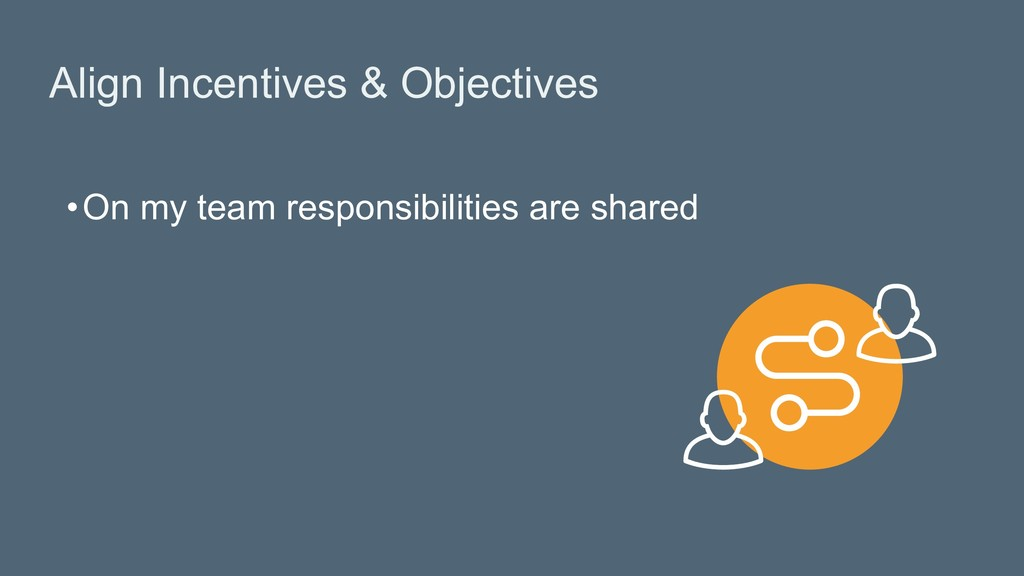 Align Incentives & Objectives • On my team resp...