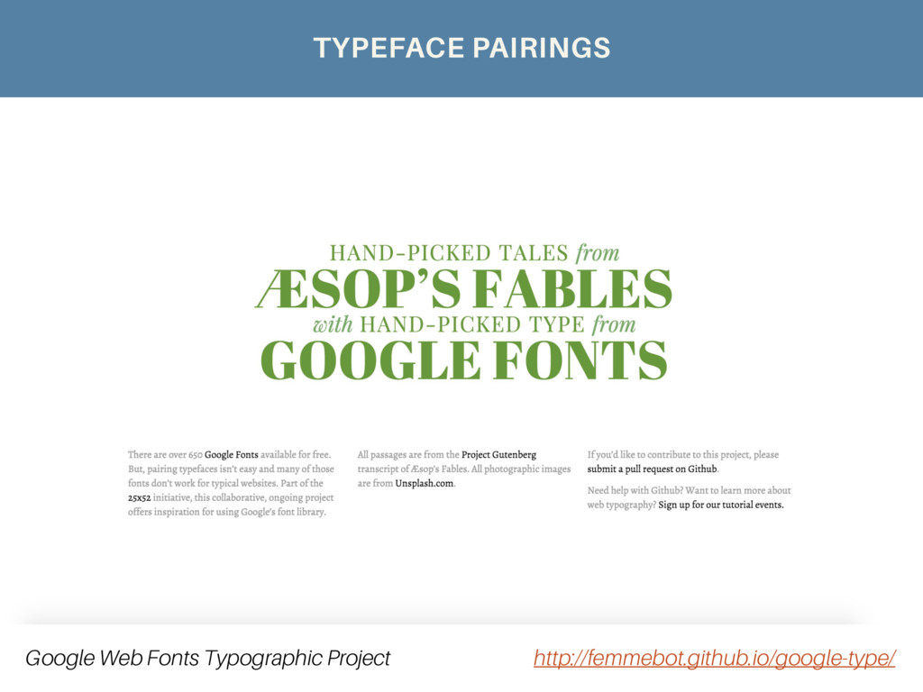 Google Web Fonts Typographic Project http://fem...