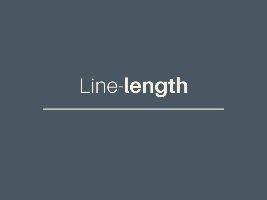 Line-length