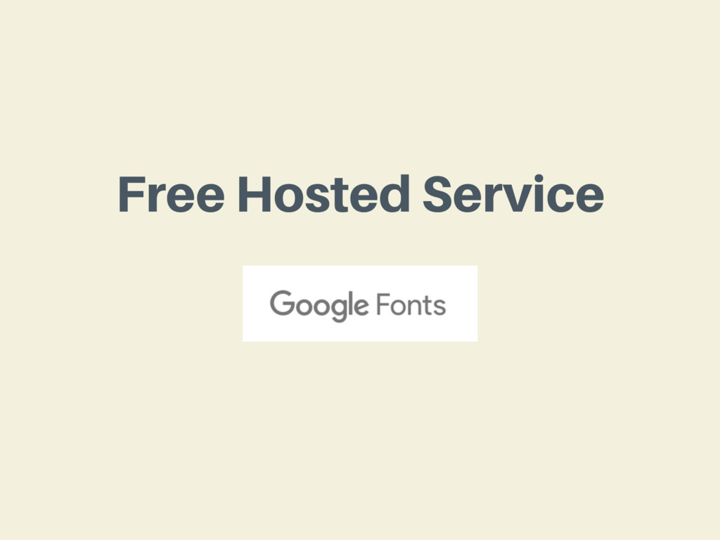 Free Hosted Service