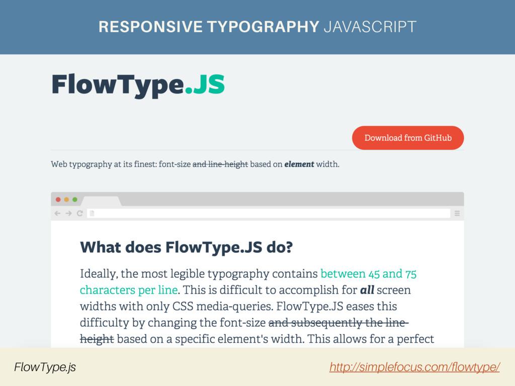 RESPONSIVE TYPOGRAPHY JAVASCRIPT FlowType.js ht...