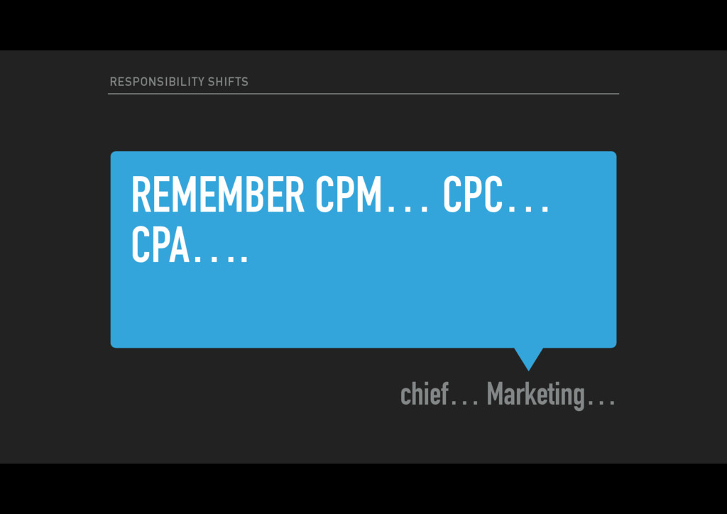 REMEMBER CPM… CPC… CPA…. chief… Marketing… RESP...