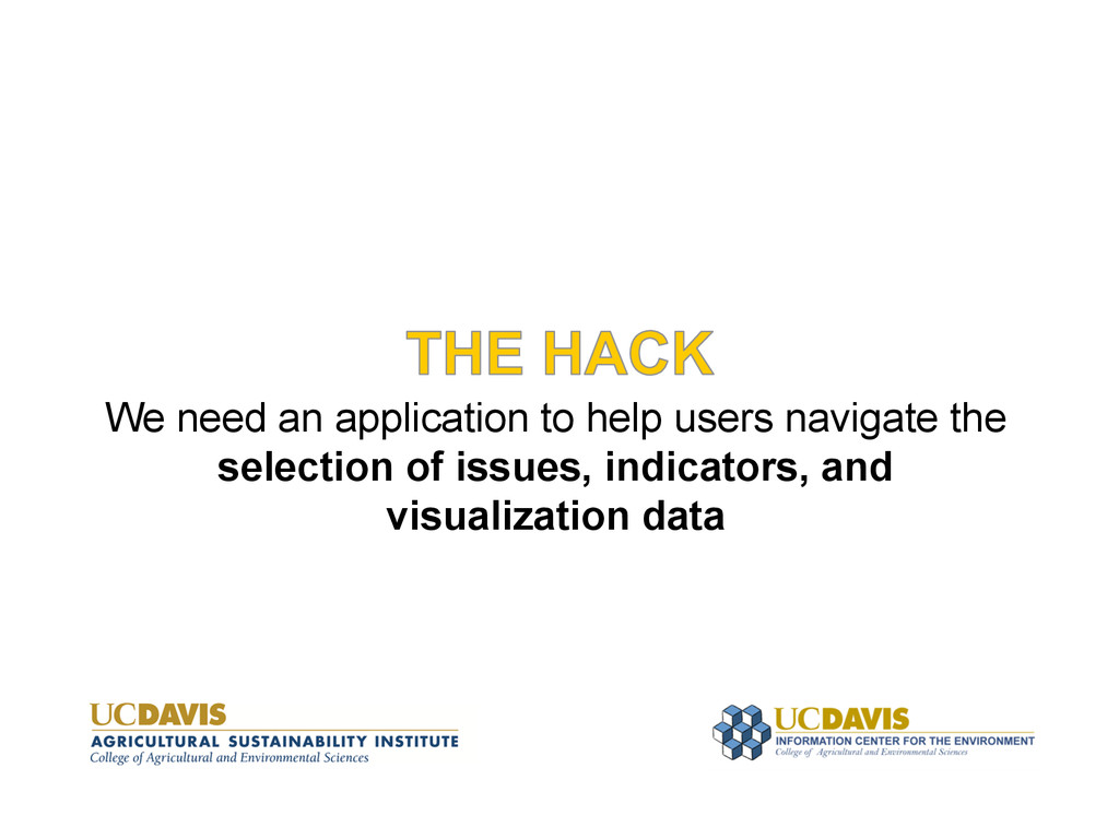 We need an application to help users navigate t...