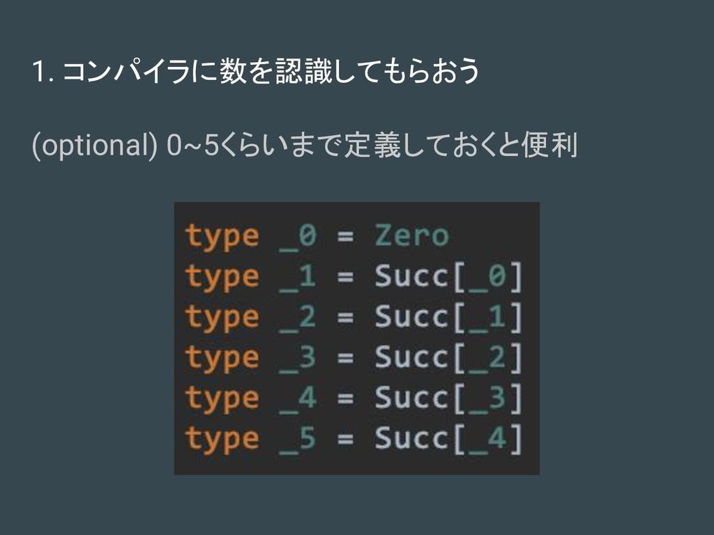 1. コンパイラに数を認識してもらおう (optional) 0~5くらいまで定義しておくと便利