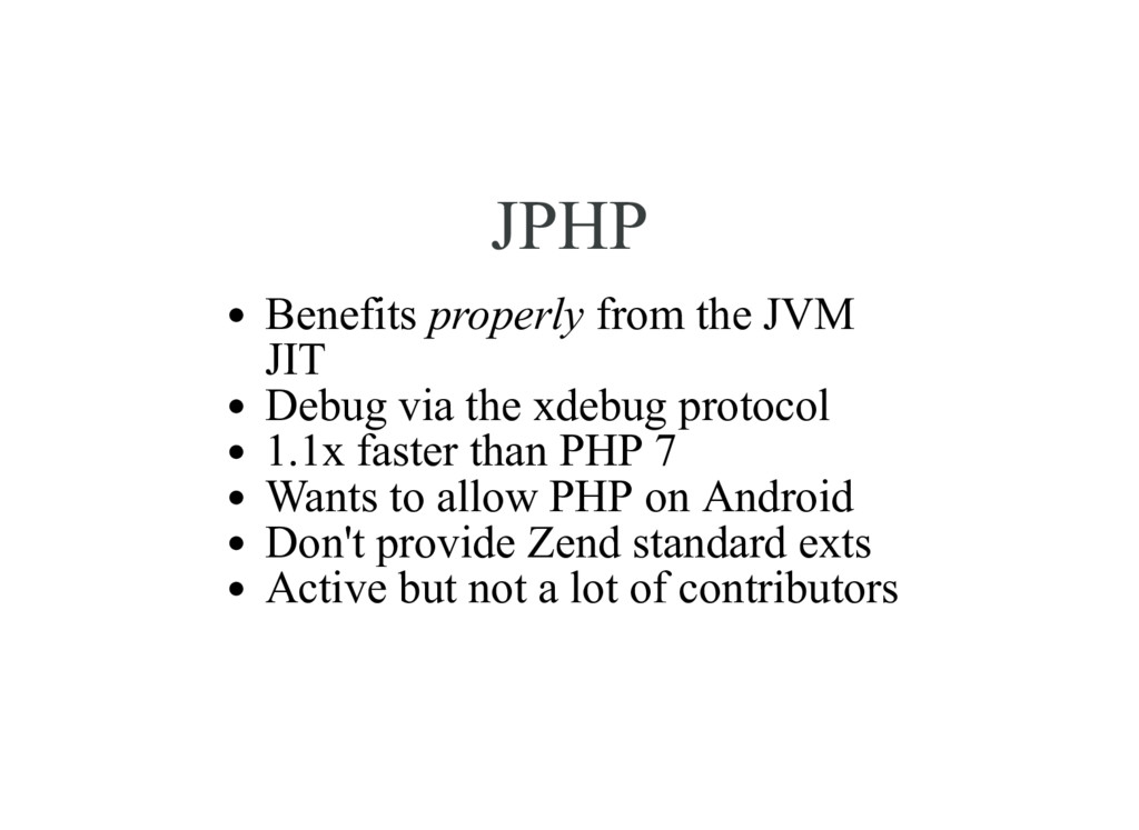 JPHP Benefits properly from the JVM JIT Debug v...