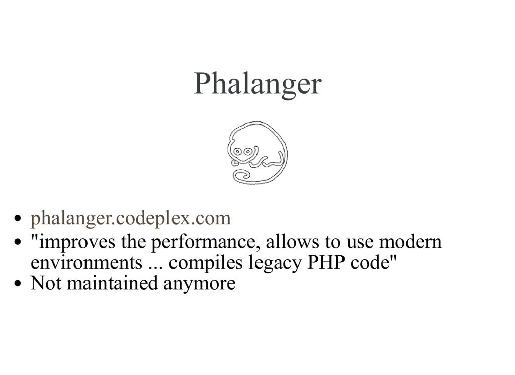 "Phalanger ""improves the performance, allows to ..."