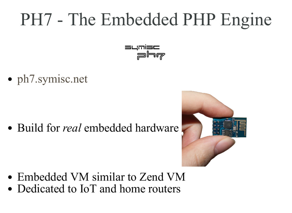 PH7 - The Embedded PHP Engine Build for real em...