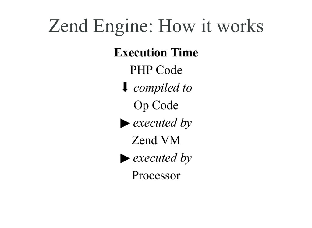Zend Engine: How it works Execution Time PHP Co...