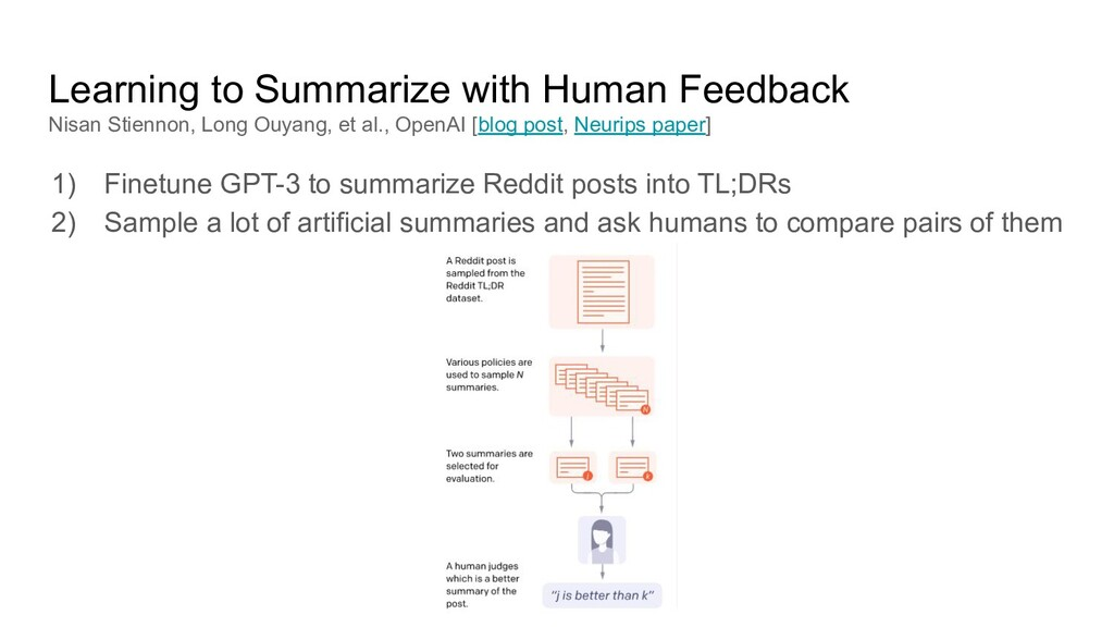 Learning to Summarize with Human Feedback Nisan...