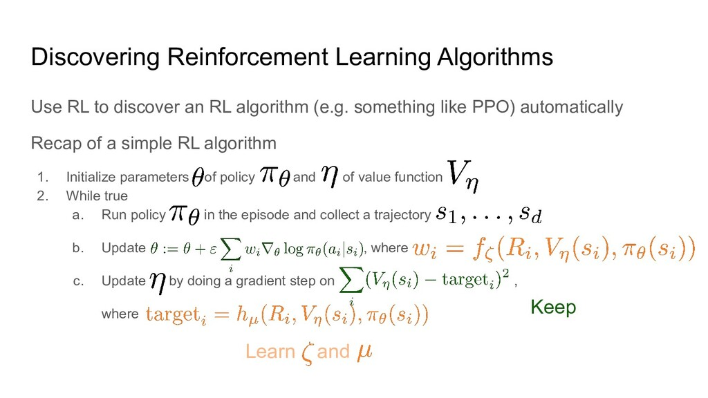 Discovering Reinforcement Learning Algorithms U...