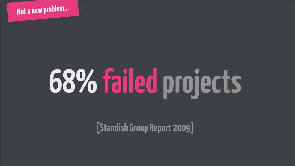 Not a new problem... 68% failed projects [Stand...