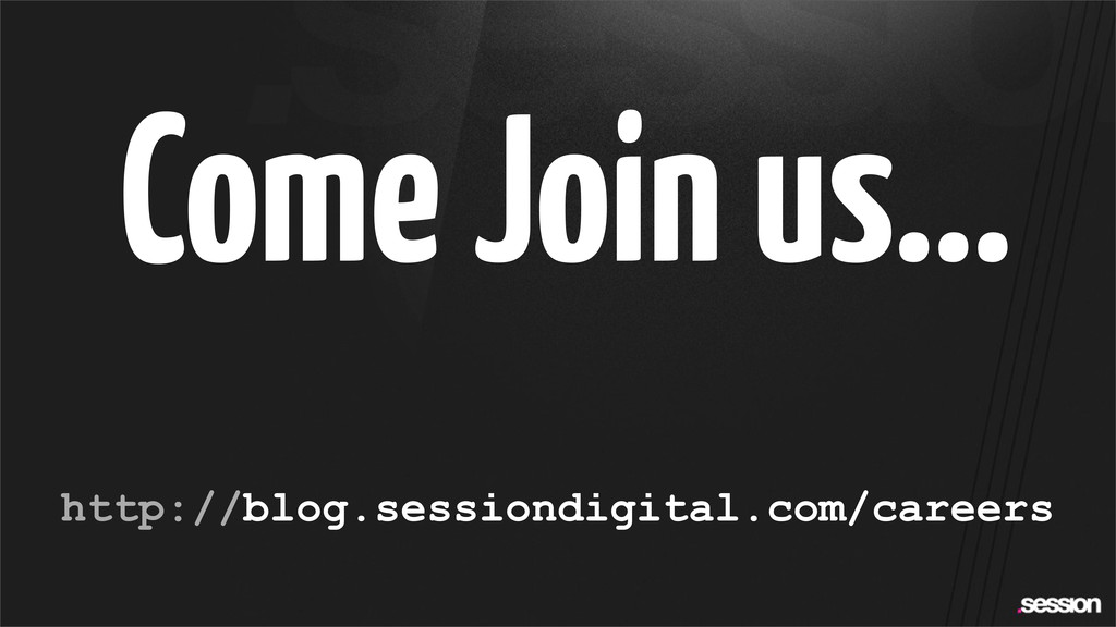 Come Join us... http://blog.sessiondigital.com/...
