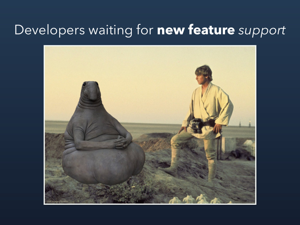 Developers waiting for new feature support