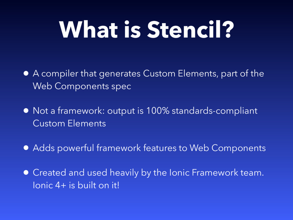 What is Stencil? • A compiler that generates Cu...