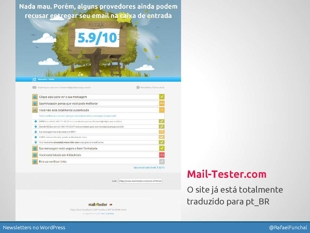 Newsletters no WordPress @RafaelFunchal Mail-Te...