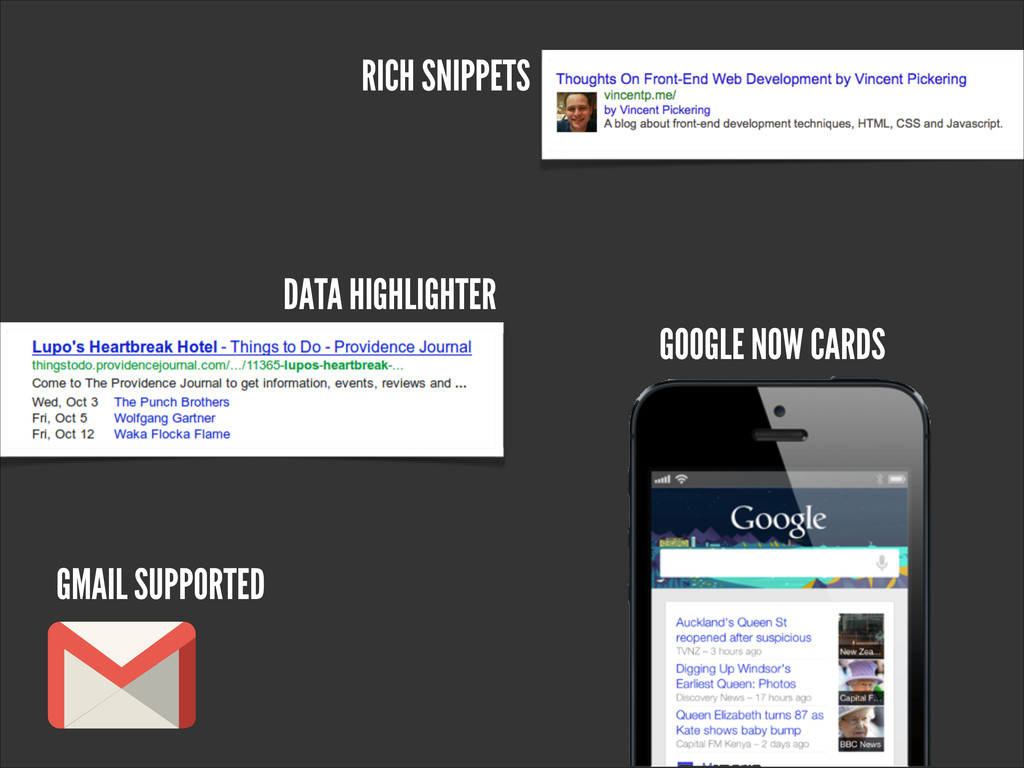 DATA HIGHLIGHTER GOOGLE NOW CARDS RICH SNIPPETS...