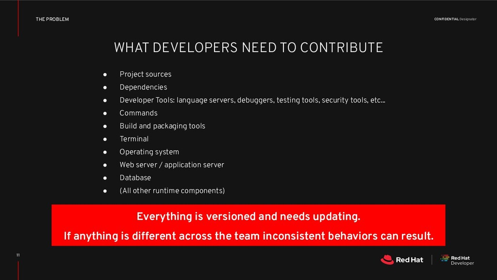 CONFIDENTIAL Designator WHAT DEVELOPERS NEED TO...