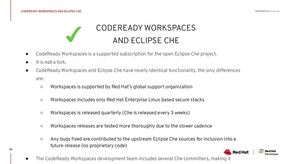 CONFIDENTIAL Designator ● CodeReady Workspaces ...