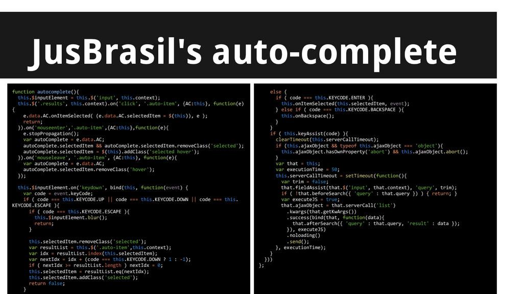 JusBrasil's auto-complete Simpler tests? functi...
