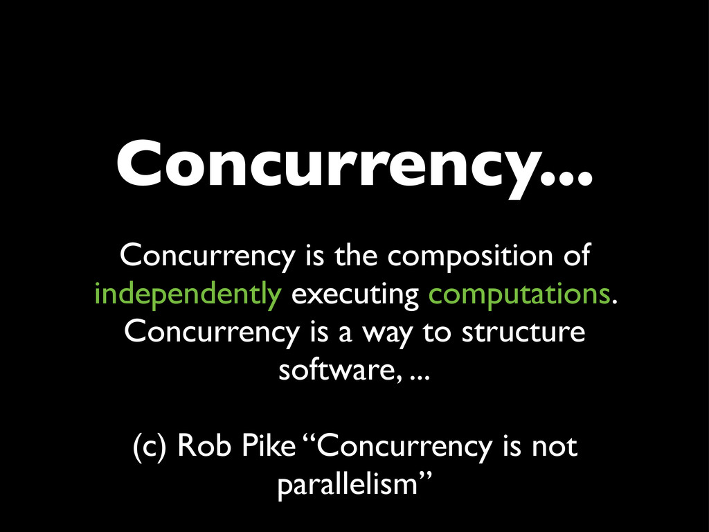 Concurrency... Concurrency is the composition o...