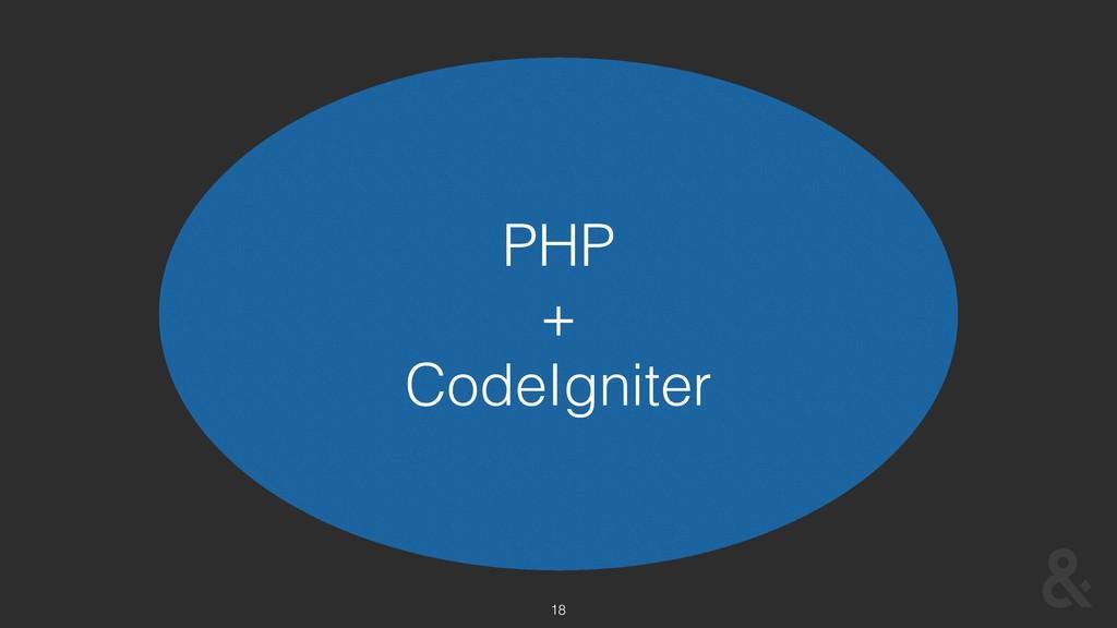 18 PHP + CodeIgniter