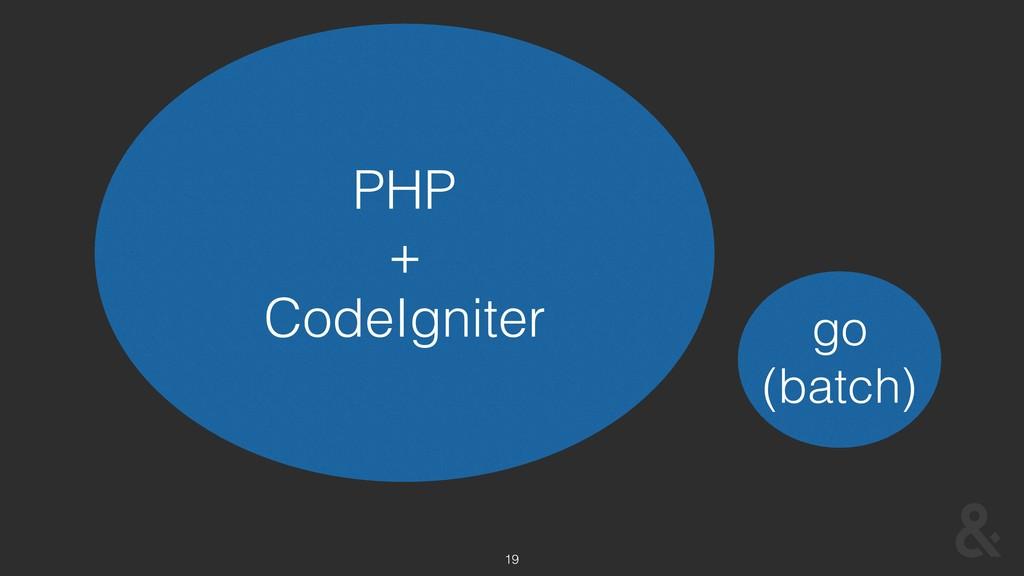 19 PHP + CodeIgniter go (batch)