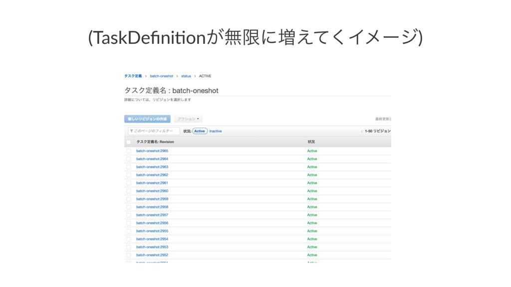 (TaskDefini+on͕ແݶʹ૿͑ͯ͘Πϝʔδ)