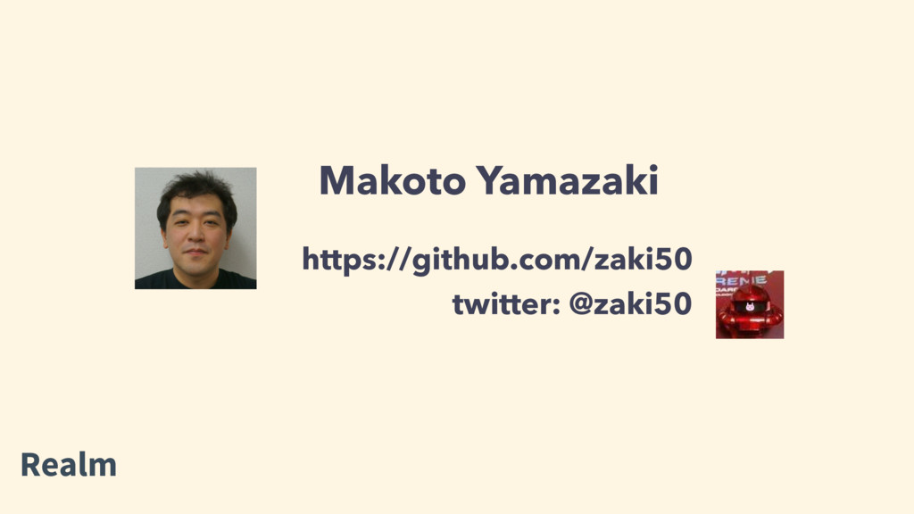 Makoto Yamazaki twitter: @zaki50 https://github...